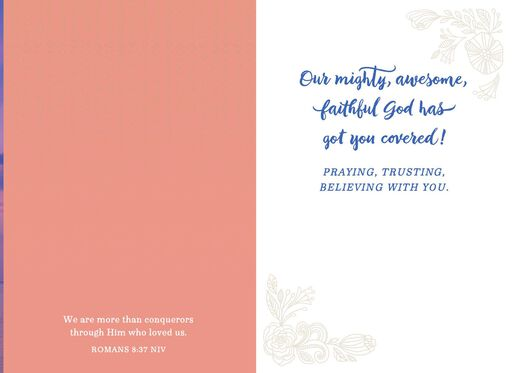 God Has Got You Covered Religious Encouragement Card,