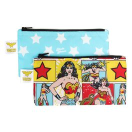 WONDER WOMAN™ Small Reusable Snack Bag by Bumkins, 2 Count, , large