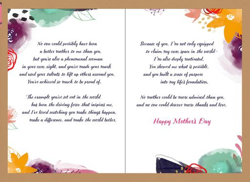 Elegant Woman in Hat Mother's Day Card,