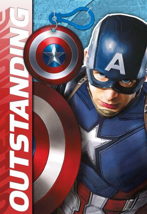 MARVEL'S Captain America Celebrating You Card With Backpack Clip