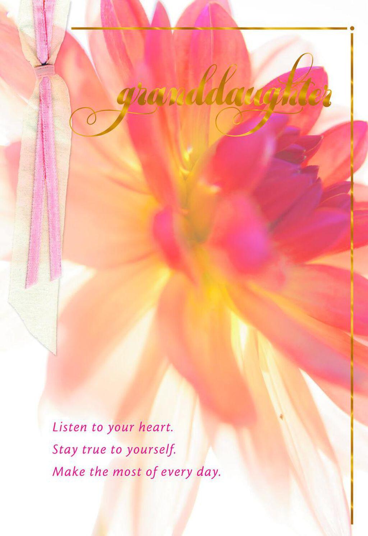 Shine Beautifully Birthday Card For Granddaughter