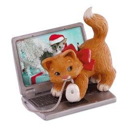 Mischievous Kittens Computer Mouse Ornament, , large