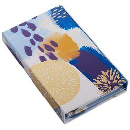 Blue Brush Strokes Desk Folio Organizer, , large