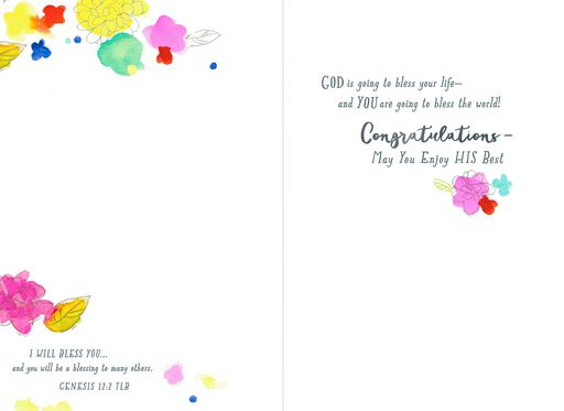 You Are One-of-a-Kind Religious Graduation Card for Female,
