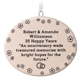 Ceramic Oval Personalized Ornament, Horizontal, , large