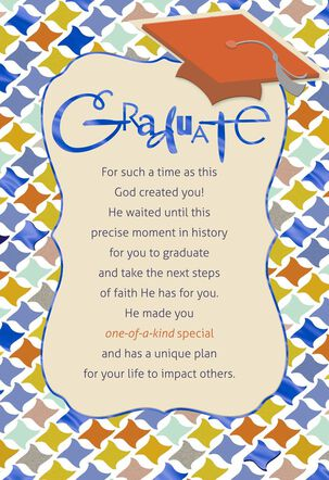 Geometric Religious Graduation Card