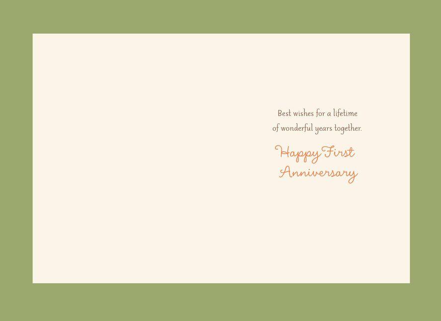 four seasons trees first anniversary card greeting cards hallmark