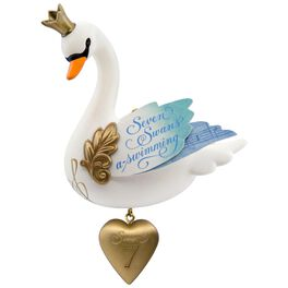 Seven Swans-a-Swimming Twelve Days of Christmas Ornament, , large