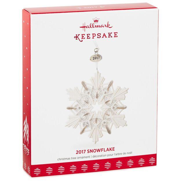 2017 Snowflake Ornament Keepsake Ornaments Hallmark Snow Flake Decoration