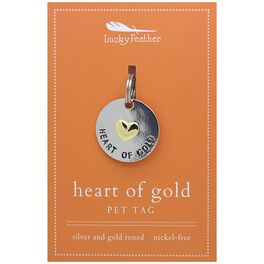 Heart of Gold Pet Tag in Silver & Gold-Plate, , large