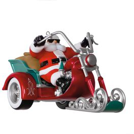 Leader of the Pack Motorcycle Musical Ornament, , large