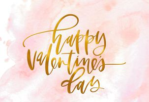Pink Marble Valentine's Day Card