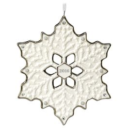 2016 Snowflake Porcelain Ornament, , large