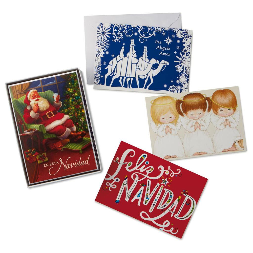 Joy of Christmas Navidad Assorted Christmas Cards, Box of 24 - Boxed ...