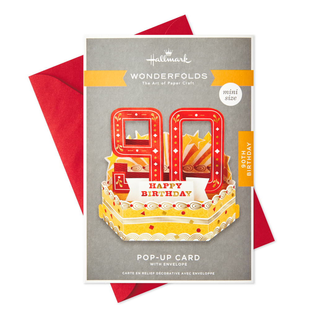 Celebrating You Mini Pop Up 90th Birthday Card