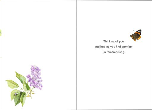 Marjolein Bastin Take Comfort in Memories Sympathy Card,