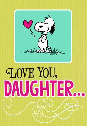 Snoopy Hug for Daughter Birthday Card