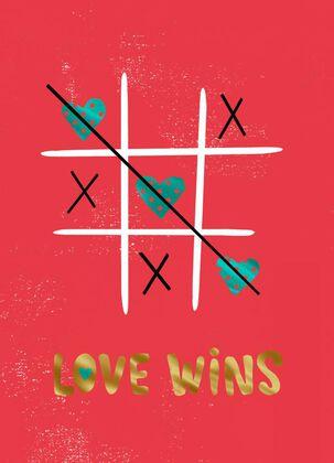 Love Wins Valentine's Day Card