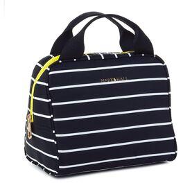 Mark & Hall Black and White Stripe Nylon Lunch Bag, , large