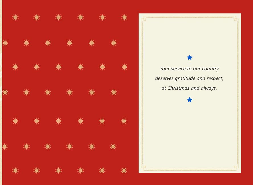 Patriotic Wreath Christmas Card for Military Personnel - Greeting ...
