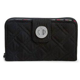Vera Bradley RFID Turnlock Wallet in Classic Black, , large