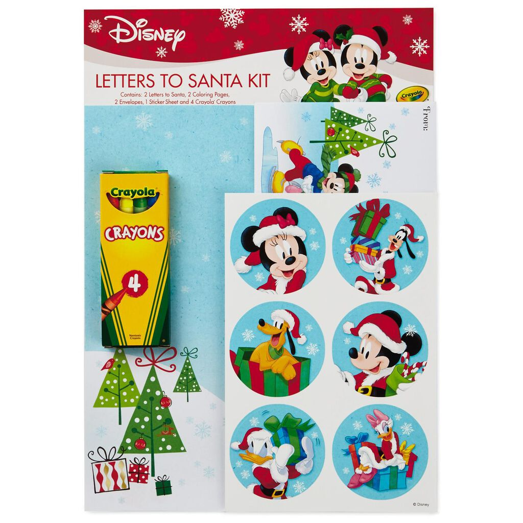 Mickey and friends letter to santa writing kit designed stationery mickey and friends letter to santa writing kit designed stationery hallmark spiritdancerdesigns Images