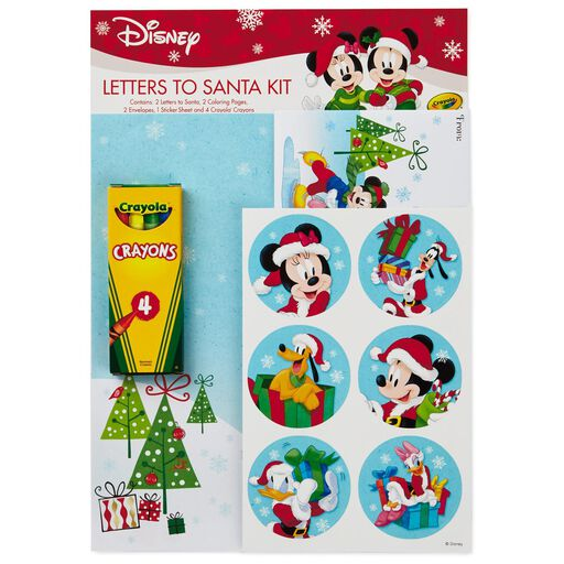 Christmas note cards stationery hallmark mickey and friends letter to santa writing kit spiritdancerdesigns Gallery