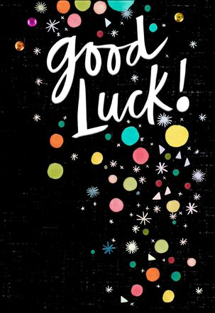 Confetti Blast Good Luck Card