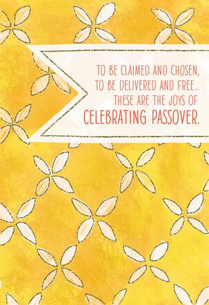 Yellow Flowers Passover Card