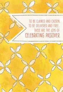 Yellow Flowers Passover Card,