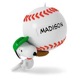 Slugger Snoopy Baseball Ornament, , large