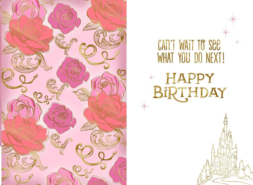 Disney Beauty And The Beast Belle Adventure Birthday Card Greeting