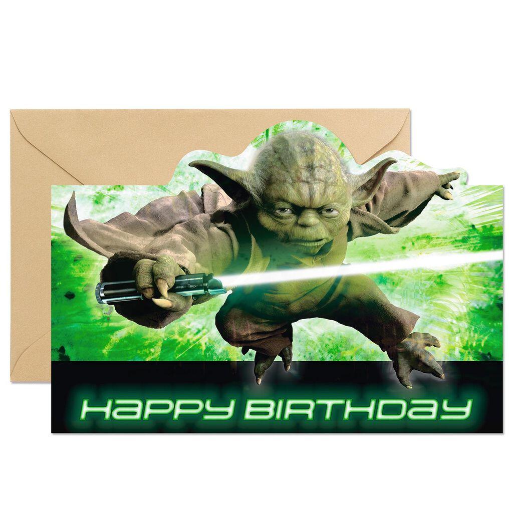 Star Wars Yoda Celebrate We Must Birthday Card Greeting Cards