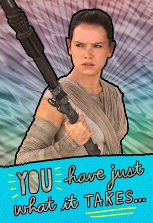 Star Wars™ Rey™ Awesome Girl Birthday Card