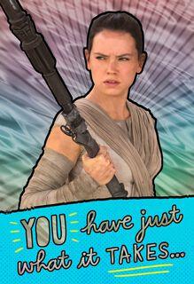 Star Wars™ Rey™ Awesome Girl Birthday Card,