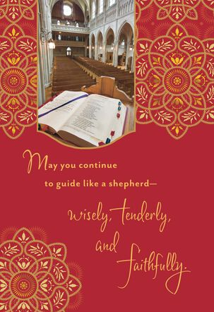Bible on Pulpit Clergy Appreciation Card