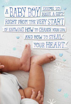 Little Legs New Baby Boy Card