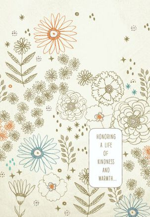 Flowers and Stars Sympathy Card