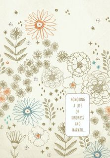 Flowers and Stars Sympathy Card,