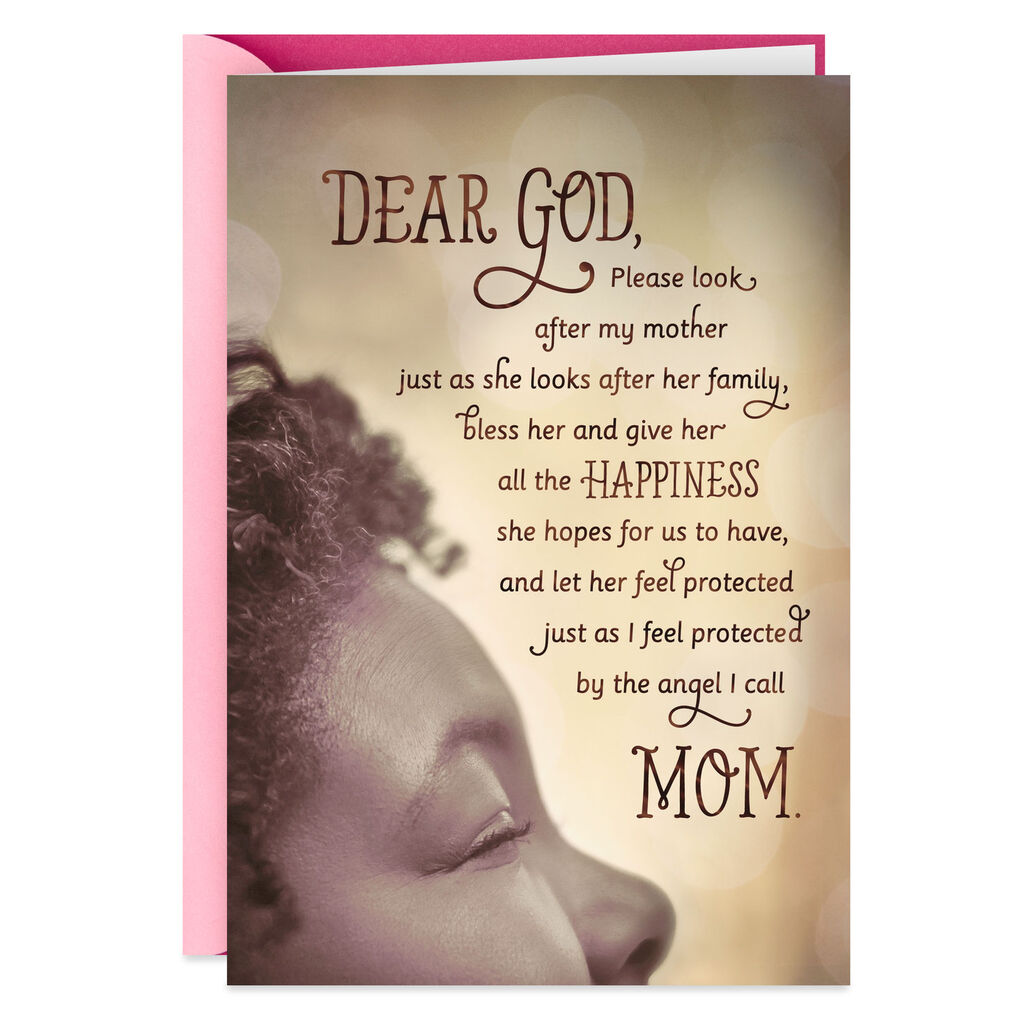 A Prayer For My Mother Religious Birthday Card