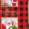 Santa Plaid Metallic Ink Christmas Wrapping Paper Roll, 45 sq. ft., Santa Plaid