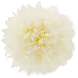 """Cream Tissue Paper Flower Pom Pom Gift Bow, 5"""", , large"""