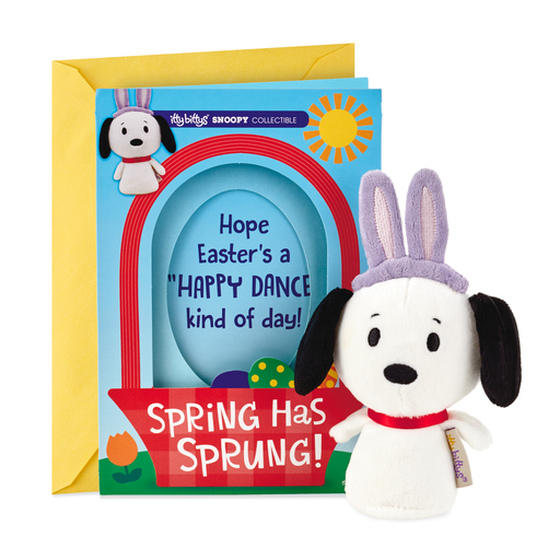 654f6da04412 itty bittys® Peanuts® Snoopy Easter Card With Stuffed Animal