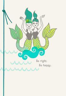So Right, So Happy Bridal Shower Card,