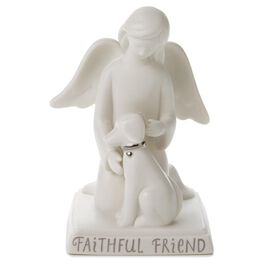 Faithful Friends Angel With Dog Porcelain Figurine, , large