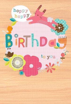 Hoppy Hoppy Birthday Card
