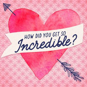 So Incredible Musical Valentine's Day Card