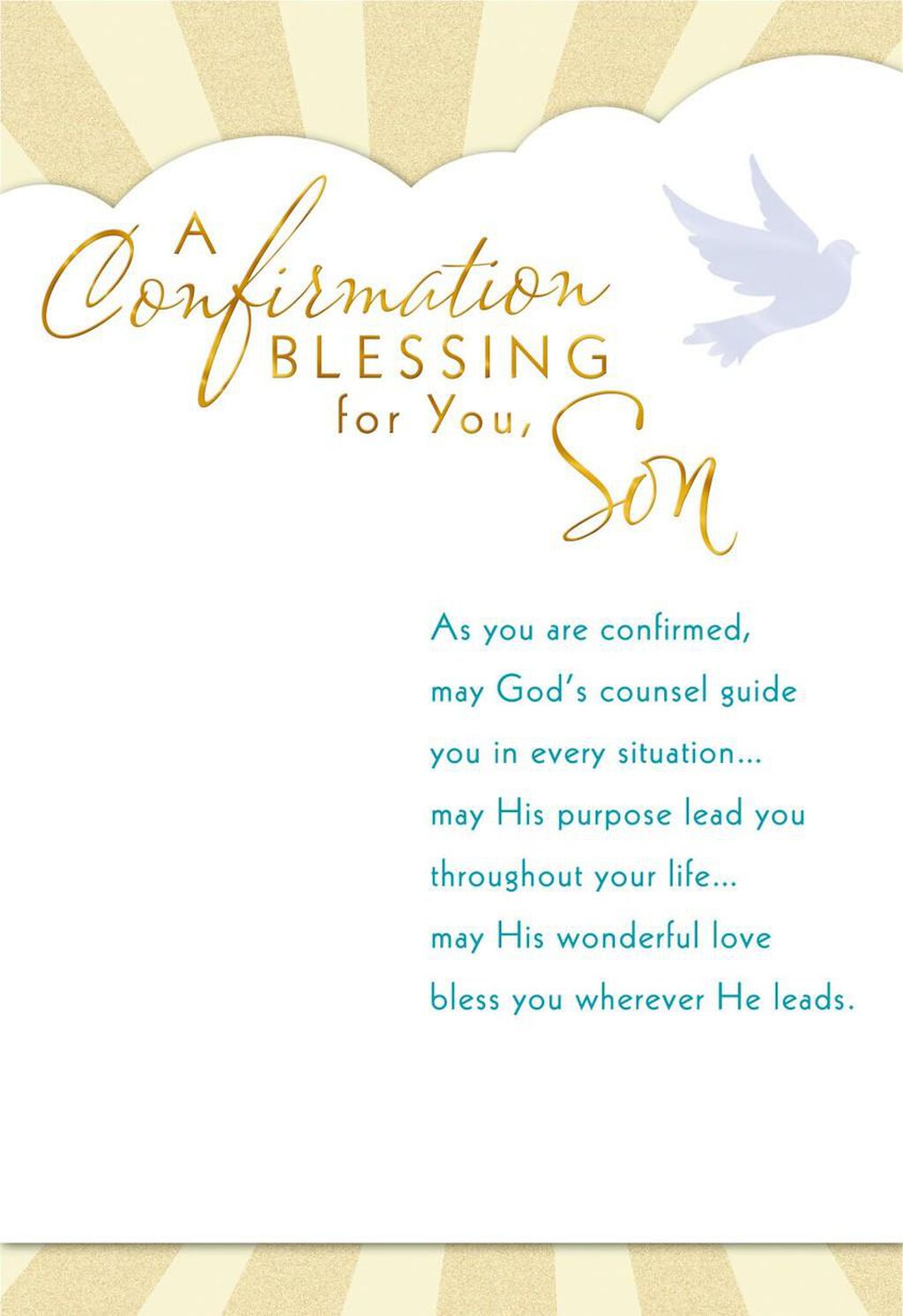 May Gods Counsel Guide You Confirmation Card For Son Greeting