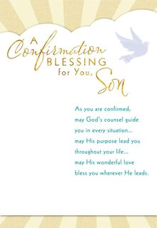 May God's Counsel Guide You Confirmation Card for Son,
