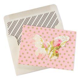 French Butterfly Note Cards, Pack of 8, , large